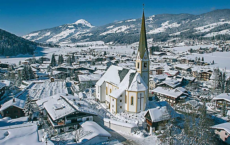 Die Winterlandschaft von Kirchberg in Tirol